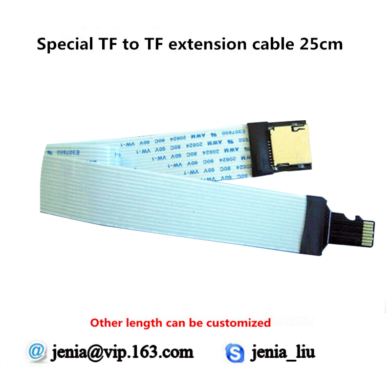 25cm Tf To Micro Sd Card Flex Extension Cable Extender